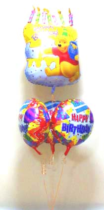 素敵なバルーン電報になります。最高のバースデープレゼントになります!!ぷーさんケーキ バルーン