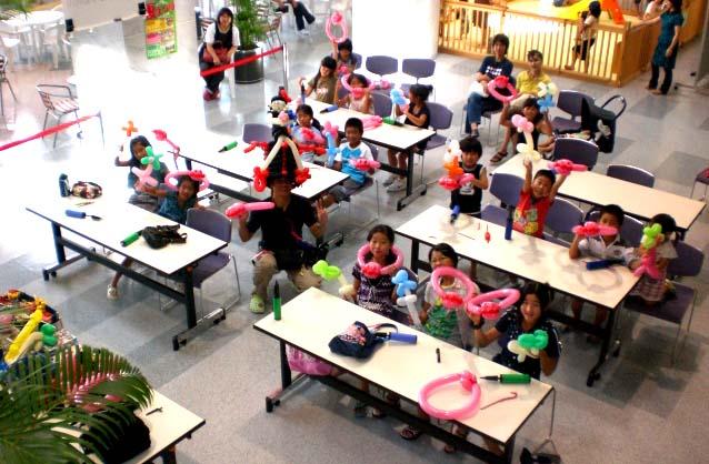 バルーンショップ トーイTOY開催 夏休みバルーン教室 福岡県 那珂川町 ミリカローデン那珂川
