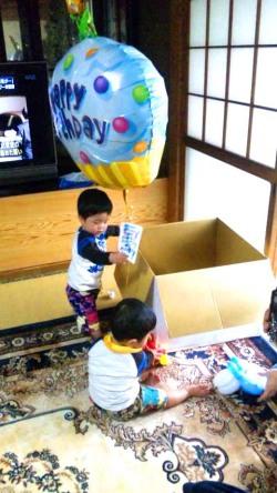 誕生日祝/送料無料「バースデーケーキ バルーン」熊本県お客様の声