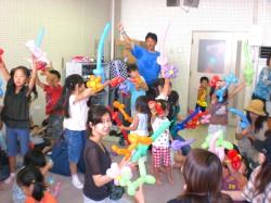 体験バルーン教室「福岡風船の会」福岡市立中央児童会館
