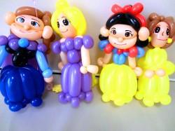 白雪姫、ベル、エルサ、ラプンツェル(誕生日祝・バルーン電報・バルーンギフト・サプライズプレゼント)