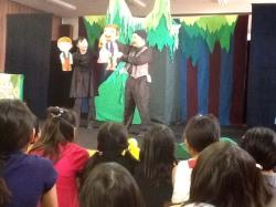 福岡県志免町のイベントでバルーン仲間のサム&メロンちゃんの人形劇を観てきました。