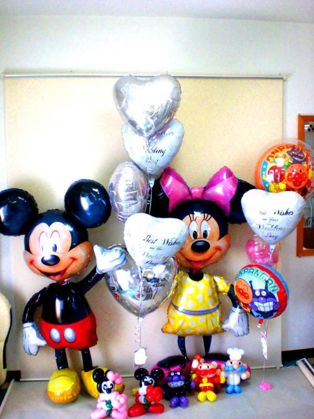 ディズニーアレンジ、アリエル、ピノキオ、ジーニー、美女と野獣の結婚お祝、スティッチ、ダッフィ、チップとデール、くまのプーさん