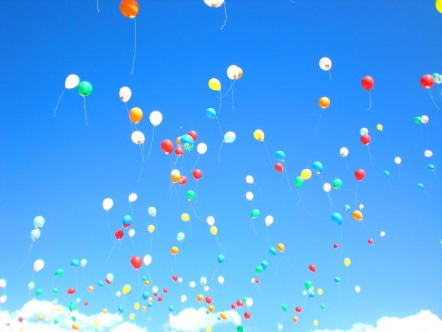 店長トーイが参加している福岡風船の会に福岡県太宰府市国分小学校様からバルーンリリースのご依頼をいただきました。