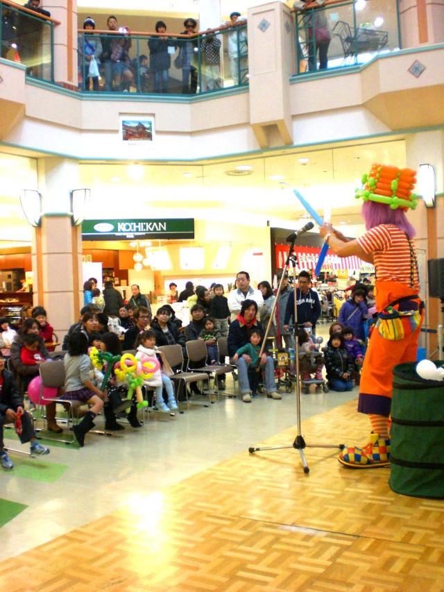 2011年2月 大分県中津市 「イオンモール三光」様からバルーンショーのご依頼をいただきました。
