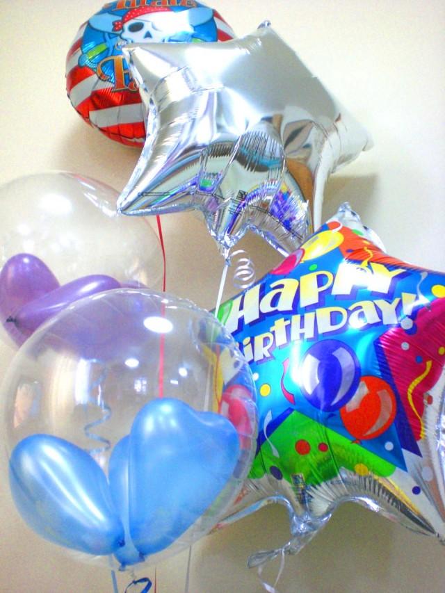 誕生日祝「海賊王に俺はなる!バースデーバルーン&バルーンアート・ミニ」素敵なバルーン電報になります。