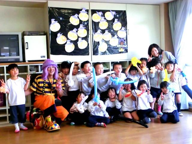 2011年10月福岡県大野城市 「みずほ保育所」 父母の会 様からバルーンショーのご依頼をいただきました。