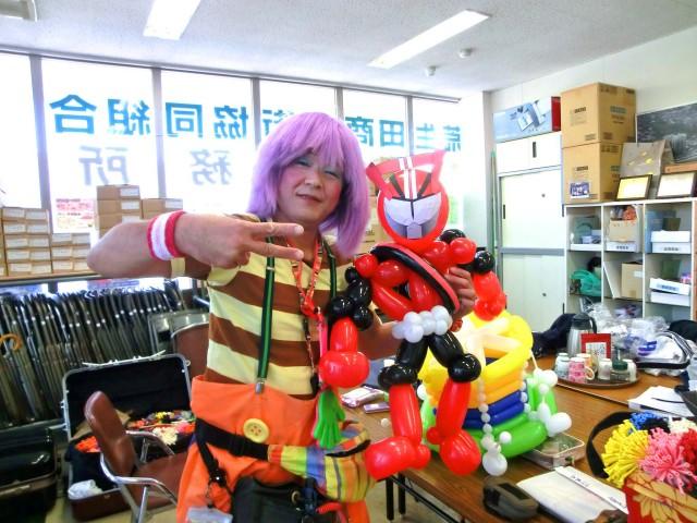 2014年10月福岡県北九州市「リバーサイド荒生田」様からバルーンショーのご依頼をいただきました。