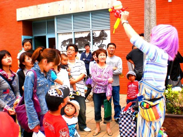 2010年5月 福岡県北九州市 海峡プラザ様からバルーンショーのご依頼をいたきました。
