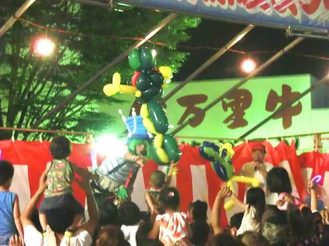 2012年8月佐賀県伊万里市 南波多納涼夏祭り 様からバルーンショーのご依頼をいたきました。
