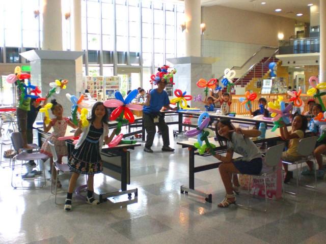 2009年7月30日 福岡県 那珂川町で夏休みバルーン教室を開催しました。