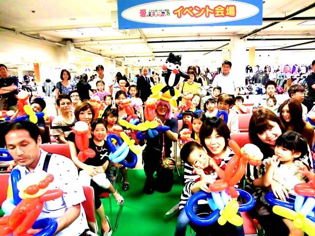 2012年9月 福岡県北九州市「小倉井筒屋」様からバルーンショー&バルーン教室のご依頼をいただきました。