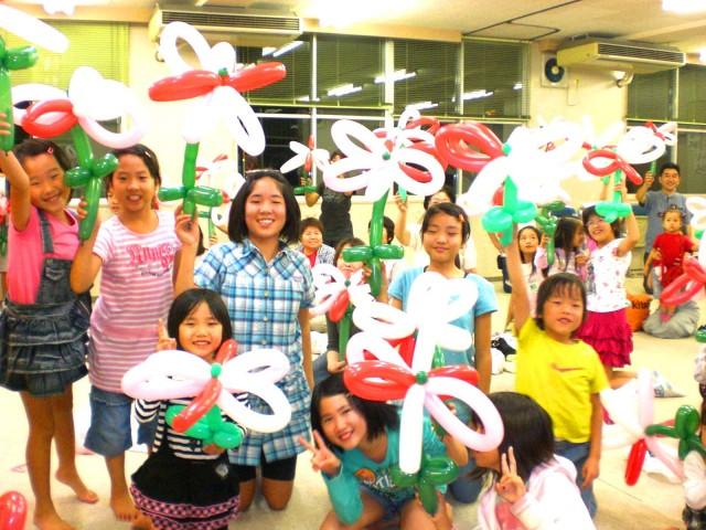 2010年 9月 福岡県志免町 「別府町内会」 様からバルーン教室のご依頼をいただきました。