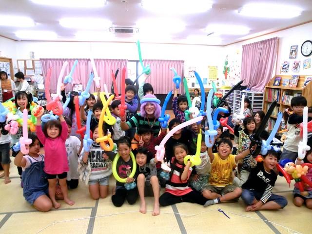2012年10月福岡県直方市 「直鞍LPガスフェア」 様からバルーンショーのご依頼をいたきました。