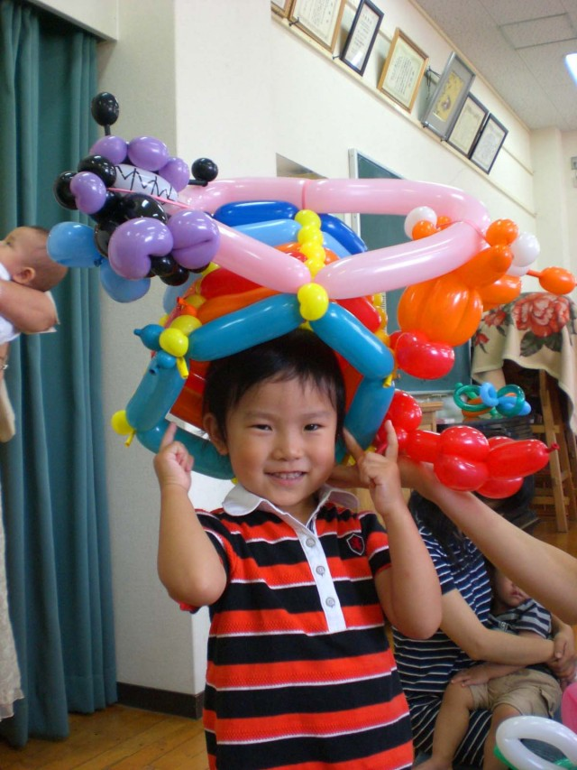2009年 9月 福岡県福岡市 高取公民館 様からバルーン教室のご依頼をいただきました。