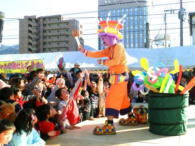 2012年11月 福岡県北九州市「ちくてつ祭り2012」様からバルーンショーのご依頼をいただきました。