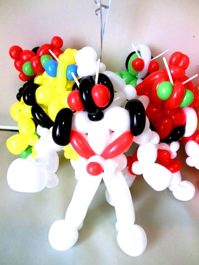 誕生日祝/仮面ライダーフォーゼ・スパークバルーン付 お祝バルーン&バルーンアート・セット
