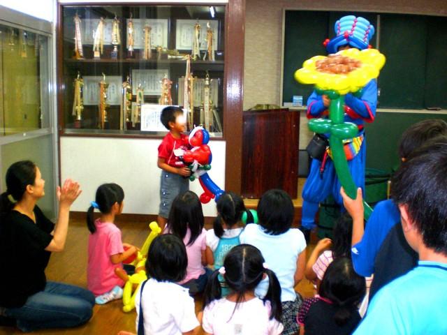 2010年6月福岡県福岡市 賀茂中子供会 様からバルーンショーのご依頼をいたきました。