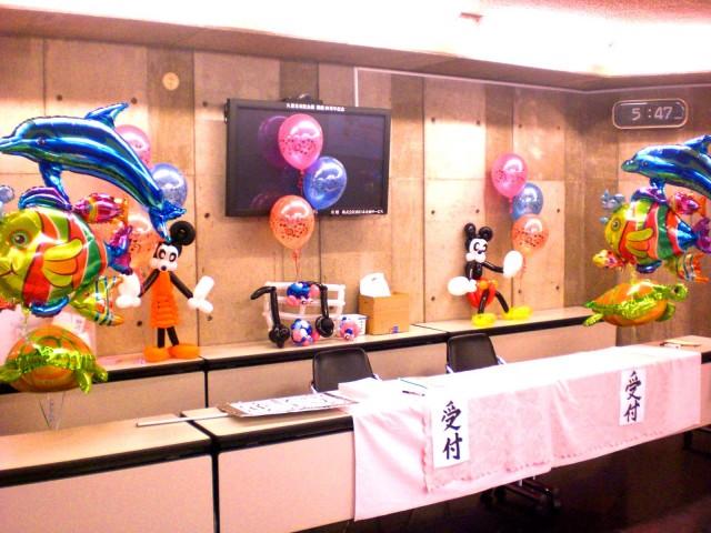 2011年8月福岡県久留米市「ラクラビ音楽教室」 様からバルーンデコレーションのご依頼をいたきました。