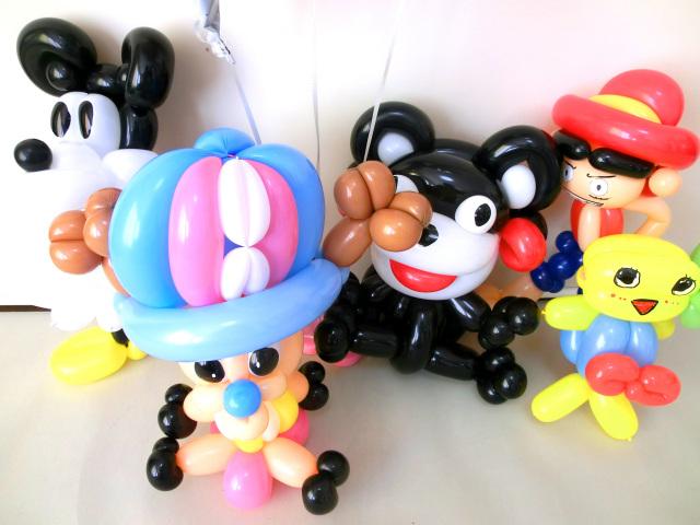 新世界編 ワンピース・ルフィ&チョッパー&ミッキーマウス&くまモン&ふなっしー ブライダル・バルーン