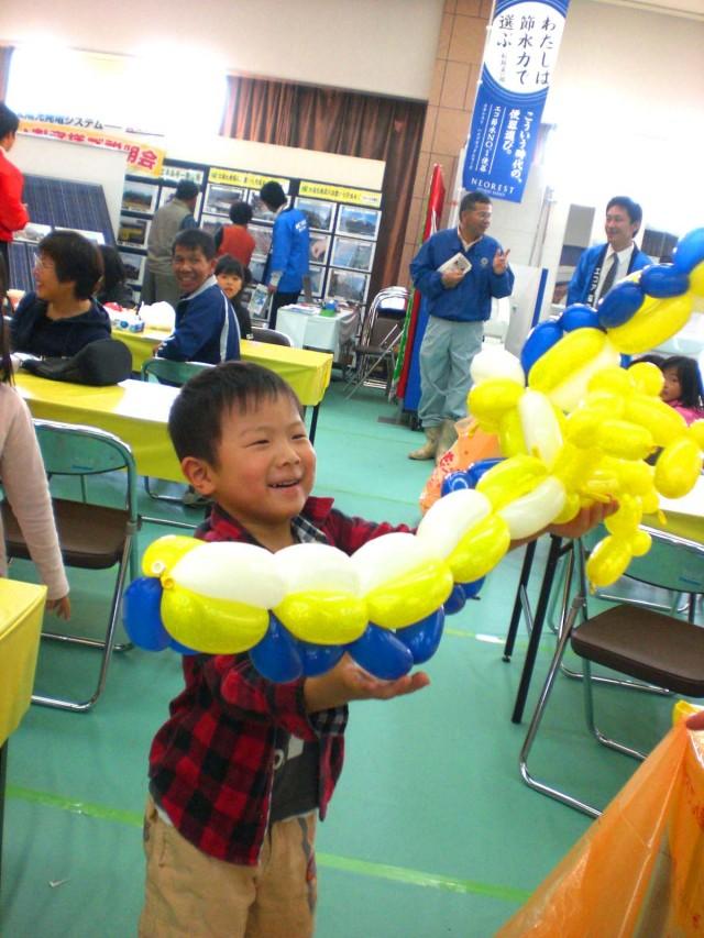 福岡県筑紫野市JA筑紫 本店様で開催された「エコアグループ わくわく大感謝祭」バルーンショー