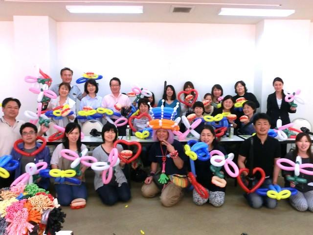 2015年6月 福岡県健康保険組合 様からバルーン教室のご依頼をいただきました。