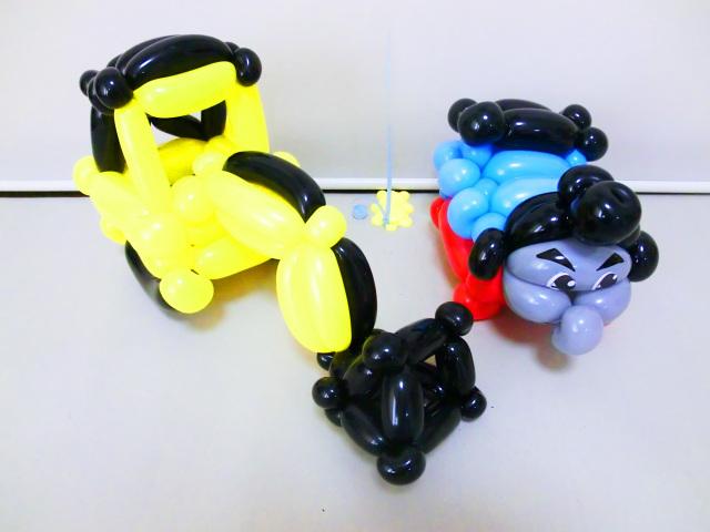 誕生祝バルーン「トーマス&ショベルカー バルーン&バルーンアート・バースデー」バルーンギフト バルーン電報になります。