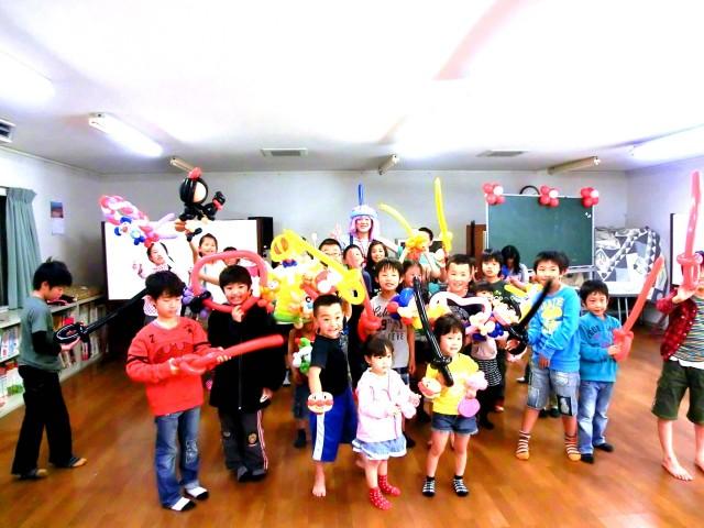 2012年4月福岡県太宰府市「つつじヶ丘子供会」様からバルーンショーのご依頼をいただきました。