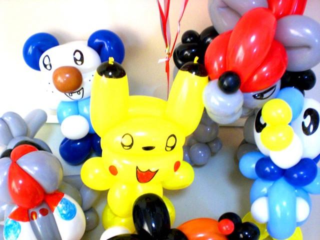 誕生祝「DXベストウィッシュ・ポケモン バースデー&バルーン アート」 素敵なバルーン電報になります。