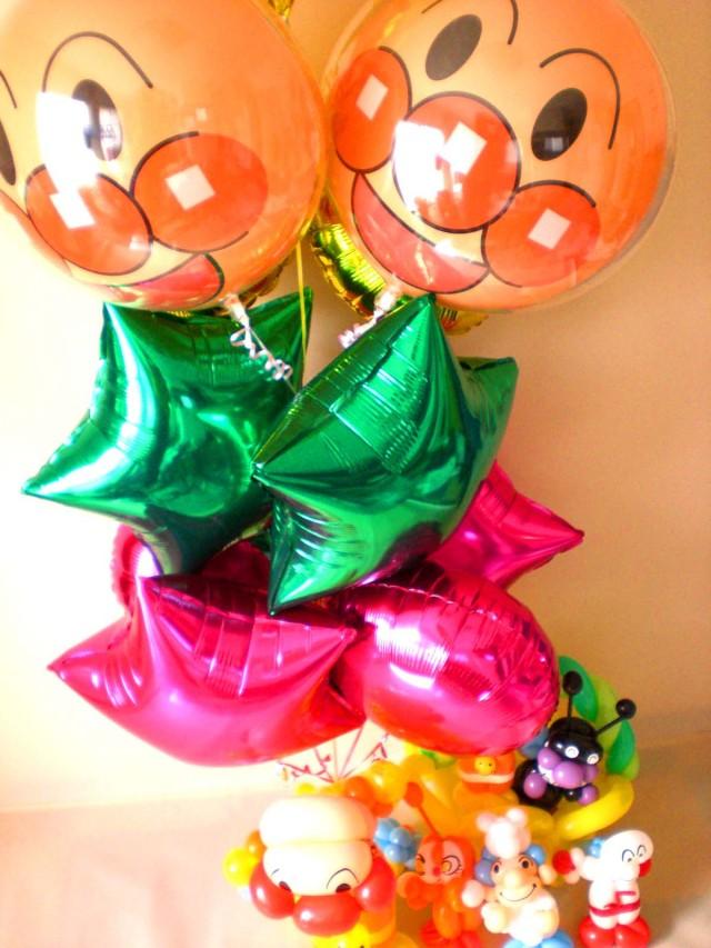 『アンパンマンおまかせ アレンジ』アンパンマンが大好きお子様に世界に一つだけのオリジナルのバルーンギフトを贈りたい・・・。