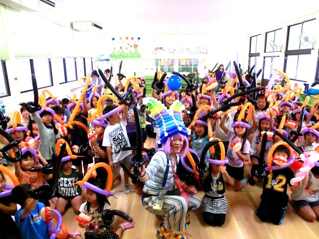 「福岡市立M小学校 留守家庭子ども会会長 M.M様」楽しいバルーンショーとスクールで盛り上がり、とても楽しい時間となりました。