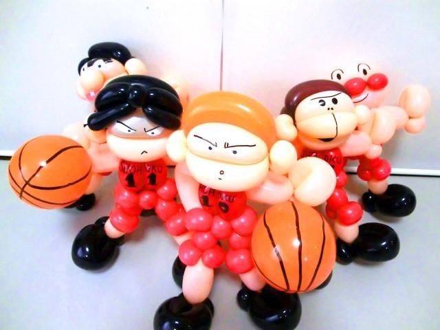 結婚祝「バスケットボール 結婚お祝バルーン&バルーンアート」素敵なバルーン電報になります。