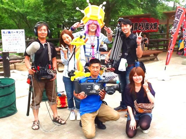 FBS福岡放送「めんたいワイド増刊号」テレビ局各社様でバルーンパフォーマーTOYトーイを取材していただきました。