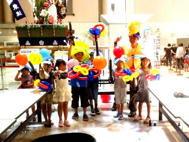 2012年7月 福岡県 那珂川町「ミリカロ−デン那珂川」で夏休みバルーン教室を開催しました。