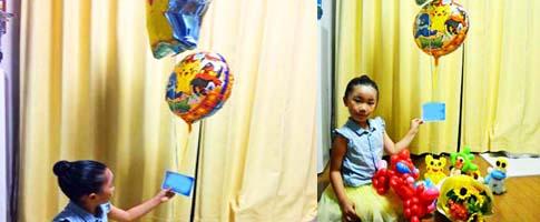 バルーンギフト「ポケモンGOゴー バルーン&バルーンアート」誕生祝・入学祝・卒園祝・七五三・入園祝・バルーン電報になります。