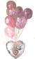 結婚祝いのサプライズプレゼントにピッタリ。 ウエディング特集 パールピンク ブライダルバルーン